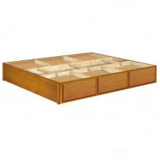 12 Inch Oak 6 Drawer Pedestal Available in King and Queen