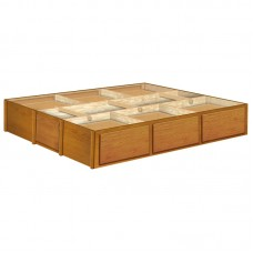 14 Inch Oak 6 Drawer Pedestal Available in King and Queen