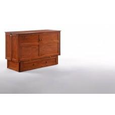 Clover Murphy Cabinet Bed in Cherry, Dark Chocolate, White Finish